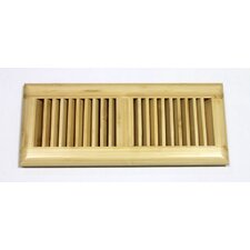 """5-5/8"""" x 13-1/2"""" Vertical Bamboo Surface Mount Wood Vent"""