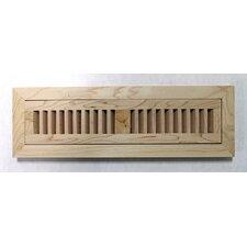 """4-1/2"""" x 16-3/8"""" Maple Wood Flush Mount Vent"""