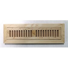 "5-3/4"" x 12-1/4"" Maple Wood Flush Mount Vent"