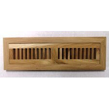 "4-1/2"" x 16-3/8"" Pecan Wood Flush Mount Vent"