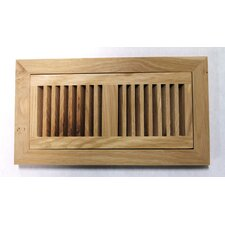 "<strong>Moldings Online</strong> 4-1/2"" x 14-1/8"" Pecan Wood Flush Mount Vent"