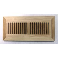 "6-3/4"" x 14-1/2"" Pecan Flush Mount Wood Vent"