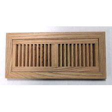 "6.75"" x 14.5"" Red Oak Wood Flush Mount Vent Cover"