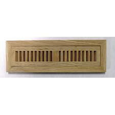 "4-1/2"" x 16-3/8"" White Oak Wood Flush Mount Vent"