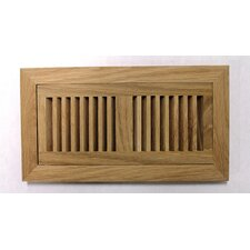 "9"" x 14-3/4"" White Oak Flush Mount Wood Vent"
