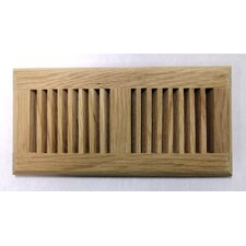 "5.63"" x 13.5"" White Oak Wood Surface Mount Vent Cover"