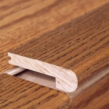 """0.62"""" x 3.38"""" Solid Hardwood Pecan Stair Nose in Unfinished"""
