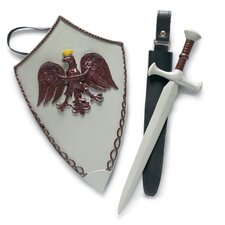 "<strong>Carpatina</strong> Knight Sword, Tabard, Shield for 18"" Boy Dolls"