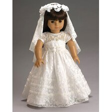 <strong>Carpatina</strong> American Girl Dolls Special Day Dress, Wreath and Veil with First Communion or Wedding Outfit