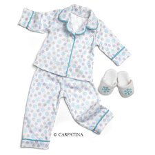 American Girl Dolls Christmas Snow Pajamas and Slippers