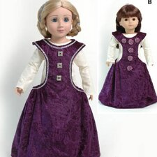 <strong>Carpatina</strong> Clothes Pattern Doll Medieval Side less Gown