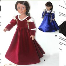 <strong>Carpatina</strong> Clothes Pattern Doll Italian Renaissance Dress