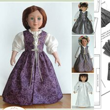 Clothes Pattern Doll Renaissance Ensemble