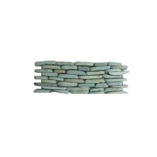 "<strong>Solistone</strong> Standing Pebbles 4"" x 12"" Interlocking Mesh Tile in Cypress"