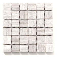 "Haisa Marble 12"" x 12"" Square Mosaic in Haisa Light"