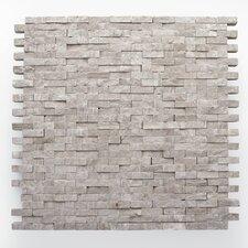 "Haisa Marble 12"" x 12"" Split Face Mosaic in Haisa Light"