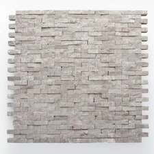 "Haisa Marble 12"" x 12"" Split Face Mosaic in Haisa Light"