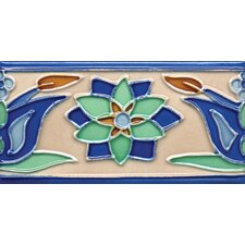 "Mission 6"" x 3"" Hand-Painted Ceramic Decorative Tile in Tulips 3"