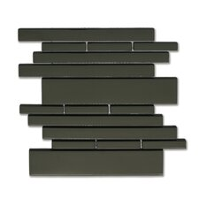 Piano Random Sized Interlocking Mesh Glass Tile in Melody