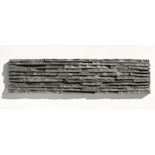 Portico Slate Random Sized Stacked Stone Tile in Black