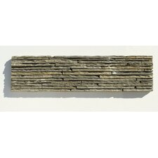 "Portico Slate 6"" x 23 1/2"" Stacked Stone Tile in Dark Green"