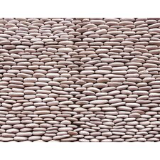 "Standing Pebbles 12"" x 4"" Interlocking Mesh Tile in Grotto"