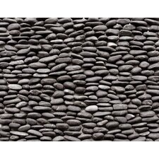 "<strong>Solistone</strong> Standing Pebbles 12"" x 4"" Interlocking Mesh Tile in Lamina"