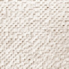 Cubist Marble Textured Mesh Mosaic in Salon