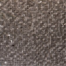 Cubist Stone Textured Mesh Mosaic in Gris