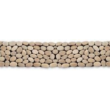 "Decorative Pebbles 39"" x 4"" Interlocking Border Tile in Brookstone"