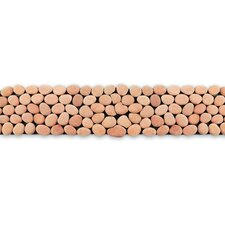 "Decorative Pebbles 39"" x 4"" Interlocking Border Tile in Dawn"