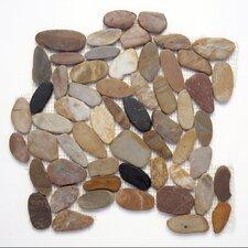 Koja Random Sized Sliced Pebble Mosaic in Anaconda