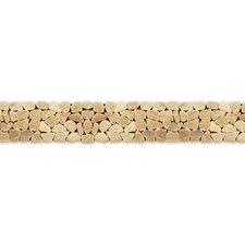 "<strong>Solistone</strong> Decorative Pebbles 39"" x 4"" Interlocking Border Tile in Alor Crystal"