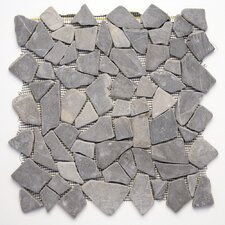 Decorative Pebbles Random Sized Interlocking Mesh Tile in Balinese Nights