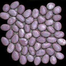 Freeform Random Sized Glass Interlocking Mesh Tile in Javaher (Violet)