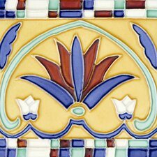 "Mission 6"" x 6"" Hand-Painted Ceramic Decorative Tile in Corona"