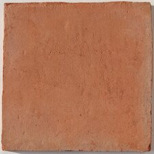 Terra Cotta Cuadrado Unpolished Tile in Orange