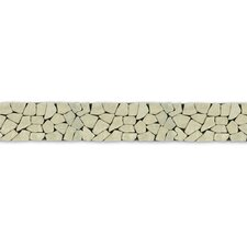 "<strong>Solistone</strong> Decorative Pebbles 39"" x 4"" Interlocking Border Tile in Green Gobos"
