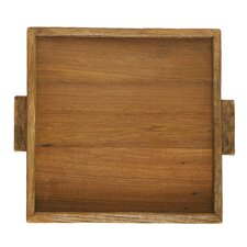 "Reclaimed Wood 9"" Square Serving Tray"