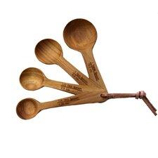 4 Piece Teak Measuring Spoon Set