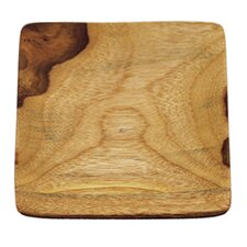 Teak Square Plate