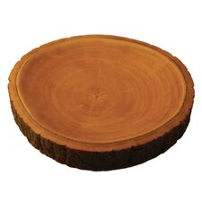 Mango Wood Plate with Bark