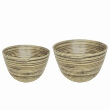 <strong>Be Home</strong> Bamboo Bowl Set (Set of 2)