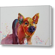 Cousins Series Prescott the Pig 11 x 14 Wrap Canvas