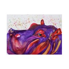 Cousins Series Humphey the Hippo 11 x 14 Wrap Canvas