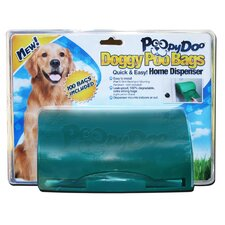 Doggy Poo Bag Home Dispenser with 100 Bag Roll