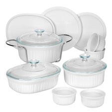 <strong>Corningware</strong> French White 14 Piece Bakeware Set
