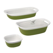 <strong>Corningware</strong> Etch 4 Piece Bakeware Set