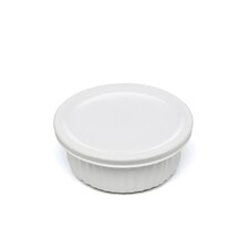 <strong>Corningware</strong> French White 16 oz. Round Dish with Plastic Cover