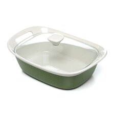 Etch Square 2.5 Qt. Dish with Glass Cover
